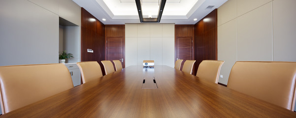 interior of modern meeting room