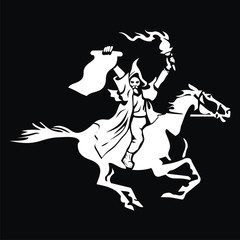 Horseman with the order and torch