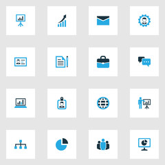 Business Colorful Icons Set. Collection Of Local Area, Growing Chart, Analytics And Other Elements. Also Includes Symbols Such As Card, Chat, Handbag.