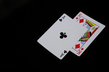 Close-up of cards