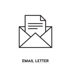 Email Letter vector icon, open mail symbol. Modern, simple flat vector illustration for web site or mobile app