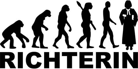 Female judge evolution with german word