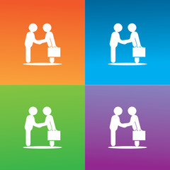 people deal symbol logo