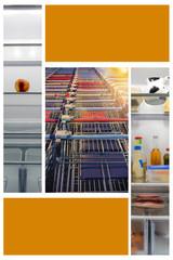 Kühlschrank ist leer es muss eingekauft werden