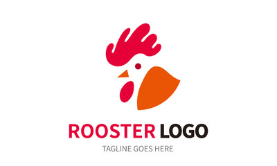 Rooster Logo - vector logo illustration. cock symbol bird minimal logo design template