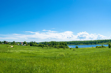 Summer landscape in the Central part of Russia.