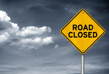 Road Closed - Road sign information