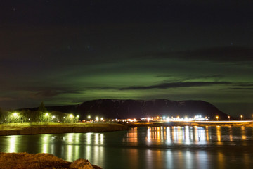 Northern Lights, Sellfoss, Iceland