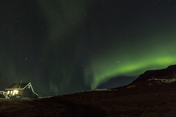 Northern Lights in Hraunsnef, Iceland