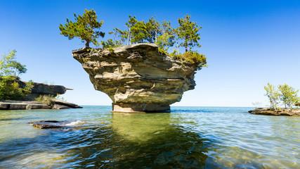 Lake Huron's Turnip Rock, near Port Austin Michigan Wall mural