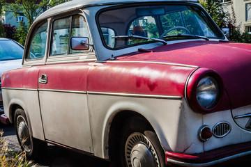 Aluminium Prints Old cars Trabbi