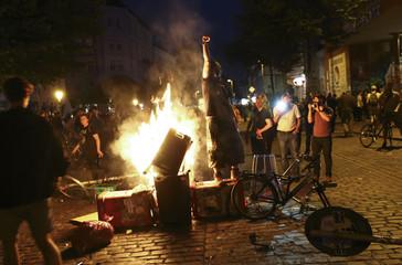 Anti G20-protests in Hamburg