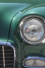 Vintage Car Right Front Grill and Headlight