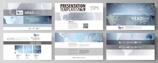 Technology concept. Molecule structure, connecting background. The minimalistic abstract vector illustration of the editable layout of high definition presentation slides design business templates.