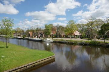 Wilnis village landscape, Netherlands