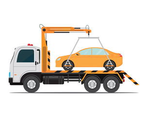 Tow truck car for transportation .
