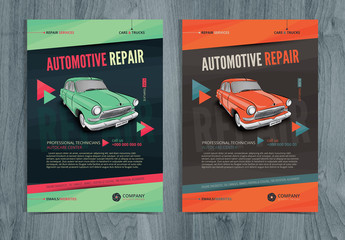 Colorful Automotive Repair Flyer Layout