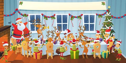 Christmas Feast Indoors