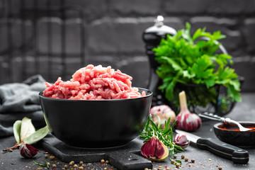 Keuken foto achterwand Vlees Minced meat