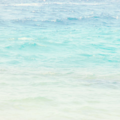 Abstract photo of tropical sea. Summer travel and vacation concept