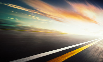 Wall Mural - Motion blurred racetrack,warm mood