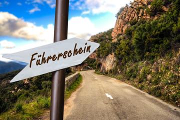 Schild 253 - Führerschein