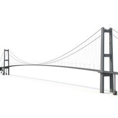 Printed roller blinds Bridge Bosphorus Bridge on white. 3D illustration