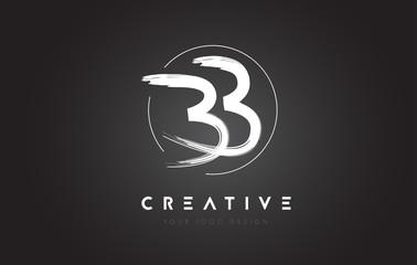 BB Brush Letter Logo Design. Artistic Handwritten Letters Logo Concept.