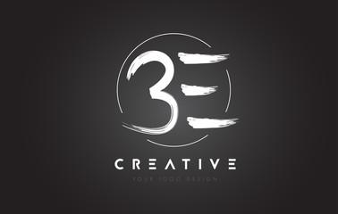BE Brush Letter Logo Design. Artistic Handwritten Letters Logo Concept.