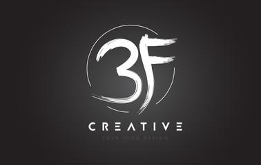 BF Brush Letter Logo Design. Artistic Handwritten Letters Logo Concept.