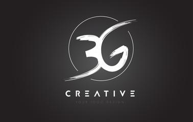 BG Brush Letter Logo Design. Artistic Handwritten Letters Logo Concept.