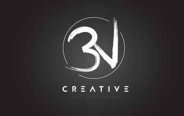 BN Brush Letter Logo Design. Artistic Handwritten Letters Logo Concept.