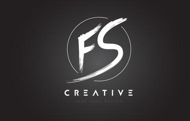 FS Brush Letter Logo Design. Artistic Handwritten Letters Logo Concept.