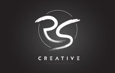 RS Brush Letter Logo Design. Artistic Handwritten Letters Logo Concept.