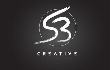 SB Brush Letter Logo Design. Artistic Handwritten Letters Logo Concept.