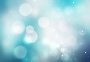 Winter snowy blue blurred background.