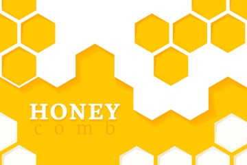 Honeycomb Background. Vector Illustration of Geometric Hexagons Background
