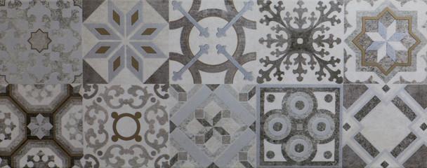 Wall Mural - Texture of dark mosaic tiles