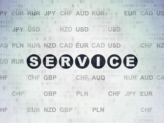 Business concept: Service on Digital Data Paper background