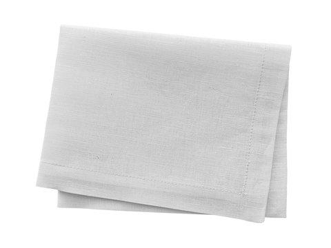 White napkin isolated on white