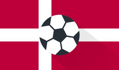 vector football / soccer ball on denmark flag background