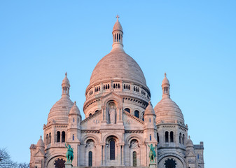 Basilica of Sacre Coeur at sunset, Montmartre, Paris, France, Europe