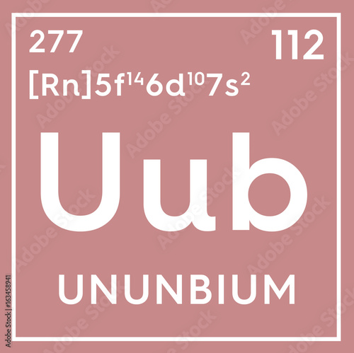 Ununbium transition metals chemical element of mendeleevs chemical element of mendeleevs periodic table ununbium in square cube urtaz Choice Image