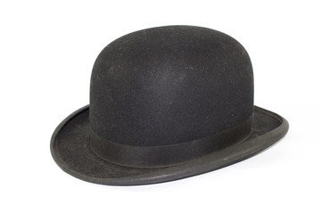 Gentleman's Bowler Hat on White Background