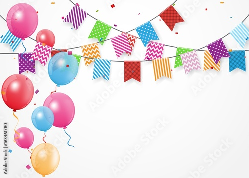 birthday celebration banner stock image and royalty free vector
