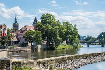 Stadt  Hameln -Weser mit Münsterkirche