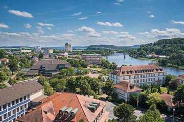 Stadt  Hameln - Blick von der Münsterkirche auf die Altstadt