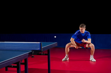 Young table tennis player