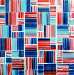Wall Mural - Texture of colored glossy mosaic tile