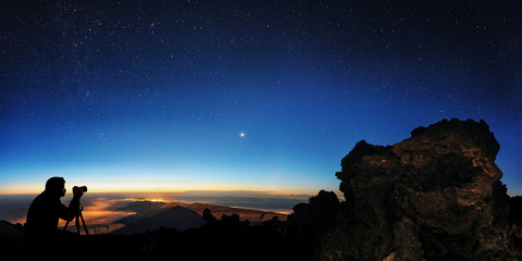 Tenerife, Teide, Looking NO, Photographing Stars and Venus